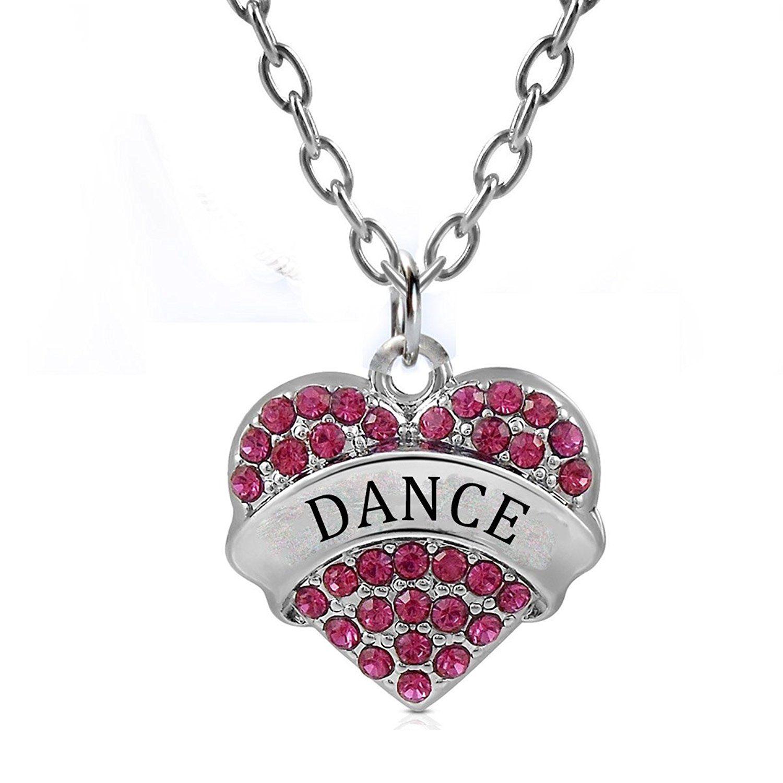 Godyce heart necklace nurse teacher blessed believe dance
