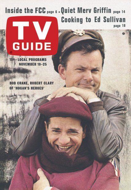 "TV Guide: November 19, 1966 - Bob Crane and Robert Clary of ""Hogan's Heroes"""