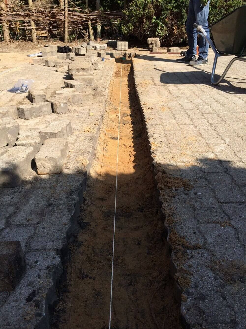 Extrem ACO Rinne - befahrbare Entwässerungsrinne selber verlegt | Hausbau OU16