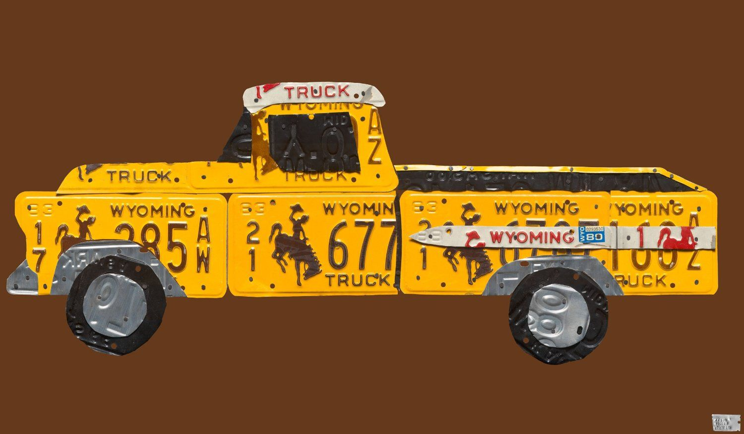 License Plate Pickup Truck Stretched Canvas Wall Art by Aaron Foster ...