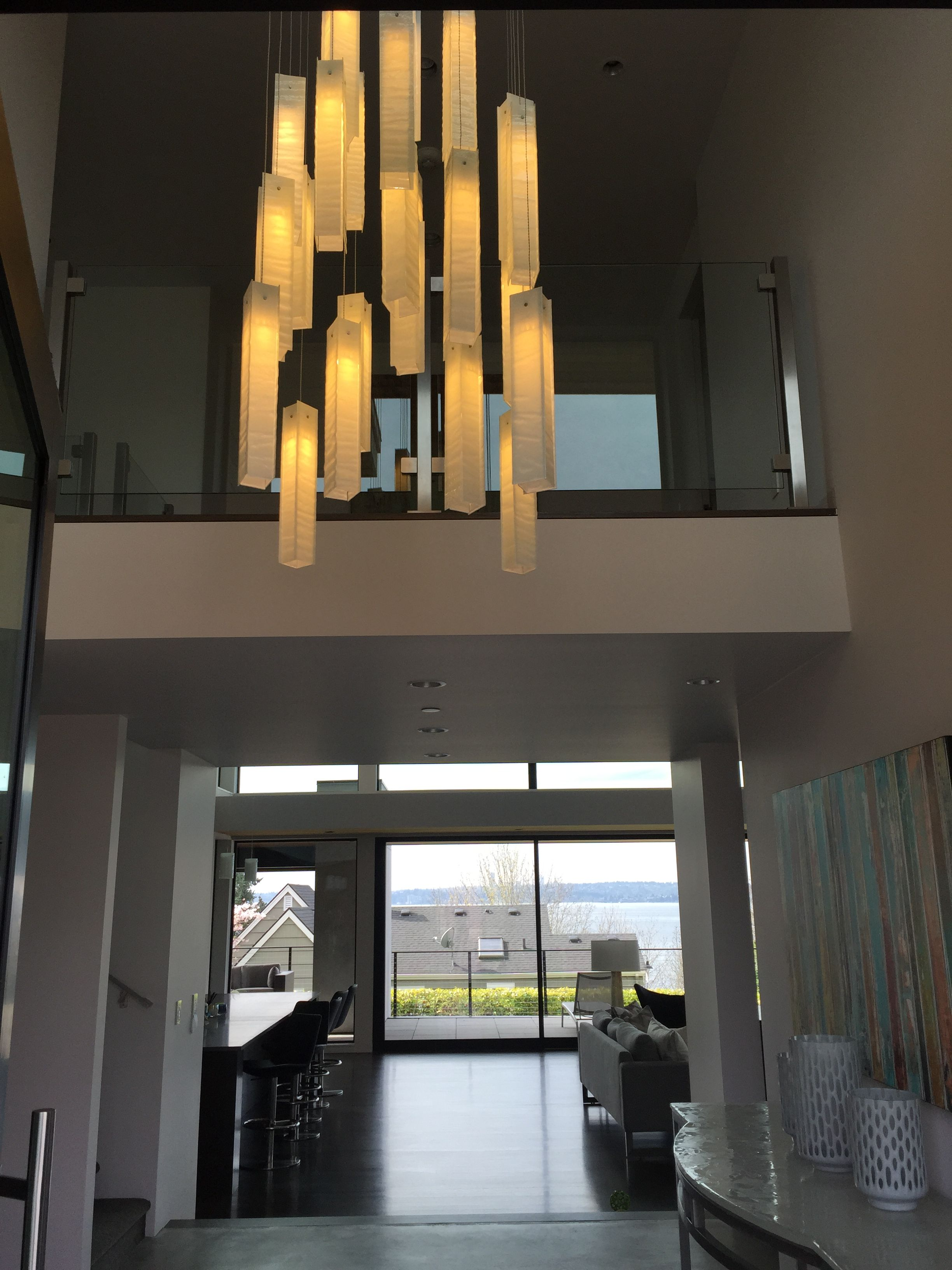 Pendant Lighting For High Ceiling Foyer By Galilee Lighting The Chandelier Is Available In Any Size Or Le Entry Lighting High Ceiling Lighting Ceiling Lights