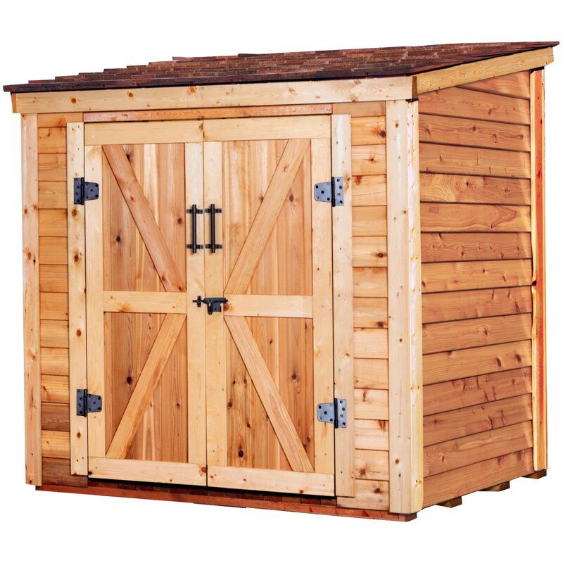 6 Ft W X 4 Ft D Solid Wood Lean To Storage Shed In 2020 Wood Storage Sheds Shed Garden Storage Shed