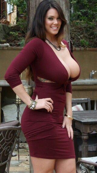Big boobs sexy dress