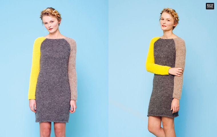 Rico Design - Raglan-Kleid | Modestil, Kleider, Stricken