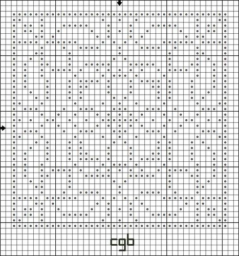Free Bunnies Squared Cross Stitch Pattern - Free Printable Chart