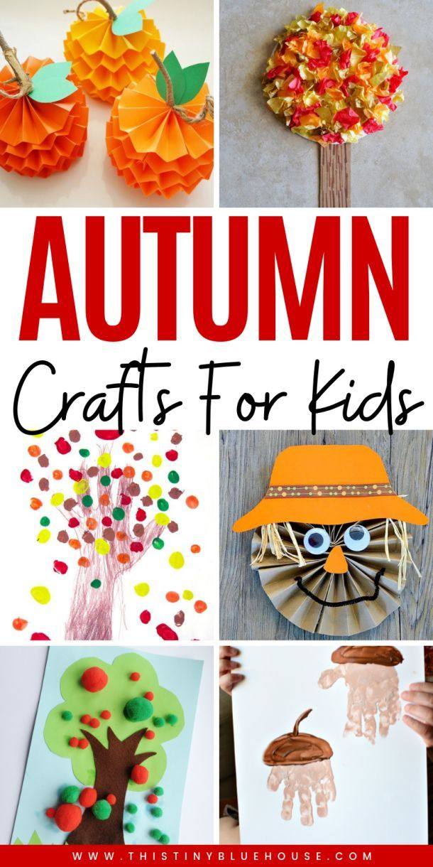 40 Crazy Easy Creative Fall Inspired Crafts For Kids – This Tiny Blue House