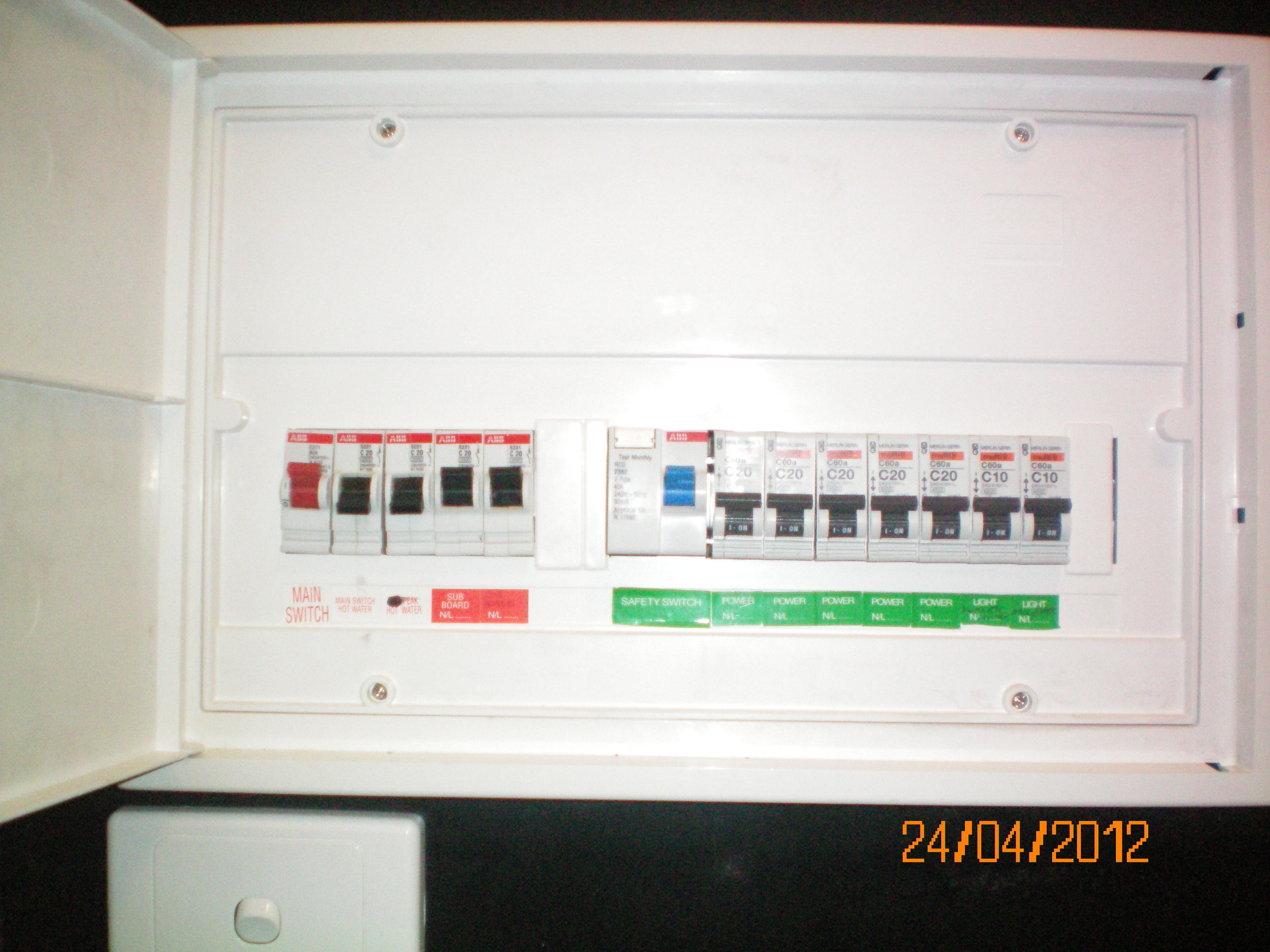 Electrical Switchboard For The Home Pinterest