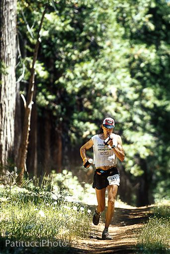 Scott Jurek in the 2002 Western States 100 Mile Race.