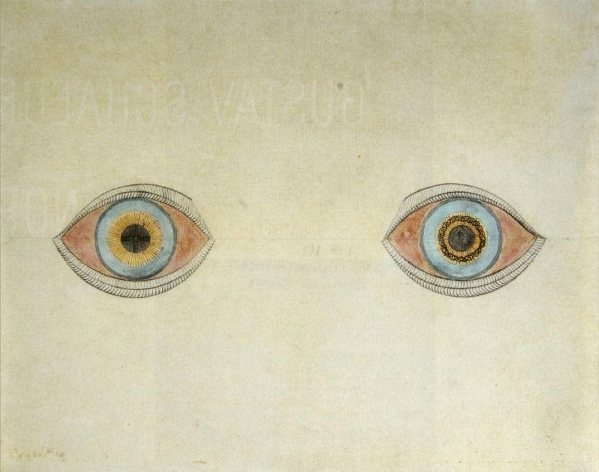 """"""" August Natterer, Meine Augen zur Zeit der Erscheinungen (My eyes at the moment of the apparitions), 1911-1913 """""""