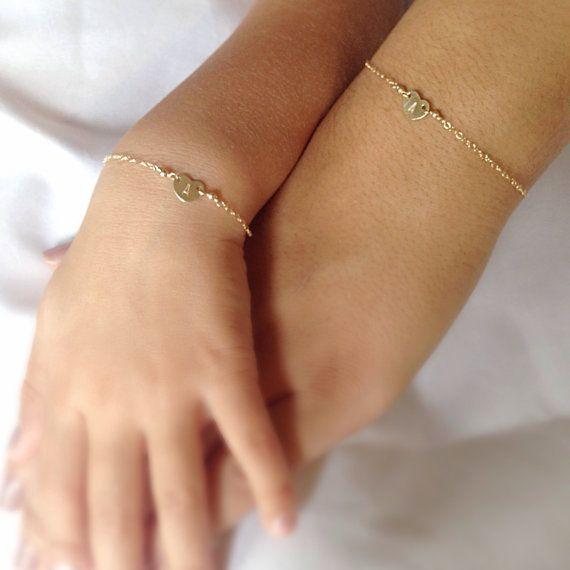 Mother Daughter bracelets matching bracelet by daisychainsworkshop