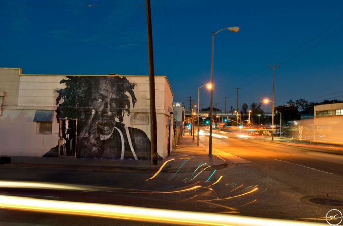 By JR. The Wrinkles of the City    Los Angeles
