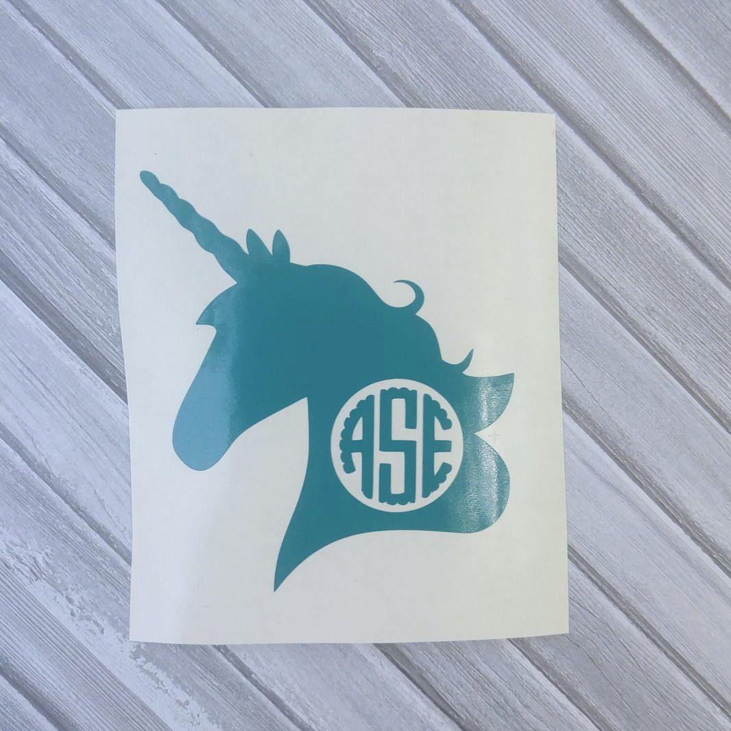 UNICORN water bottle Vinyl StickersPersonalised Unicorn Sticker