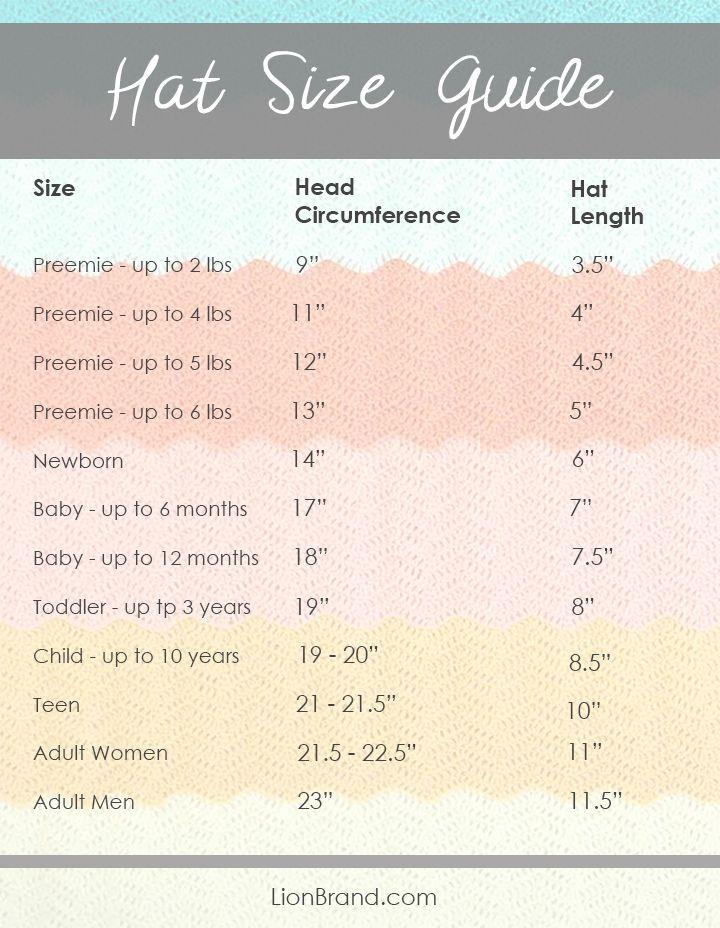 hat size guide   Yarn - Tips & Techniques   Pinterest   Bebé