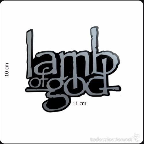Pegatina logo del grupo Lamb of God