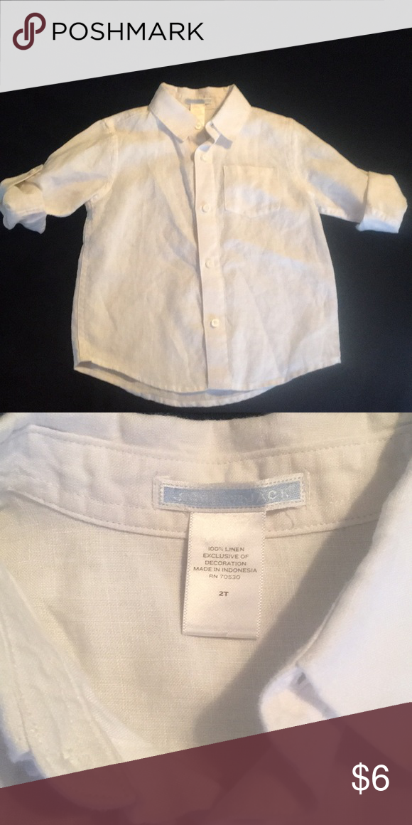 132d9929 Janie and jack boys linen Button up 2T White Janie and jack Button up 2T.  Linen material Janie and Jack Shirts & Tops Button Down Shirts