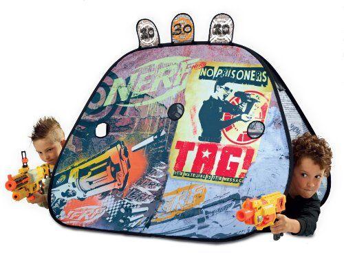 NERF Pop-Up Tent Combat Shelter - Nerf War Games  sc 1 st  Pinterest & NERF Pop-Up Tent Combat Shelter - Nerf War Games | Nerf gun party ...