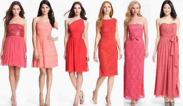 reputación confiable diseño innovador seleccione para oficial Cómo combinar un vestido coral para ir a una boda ...