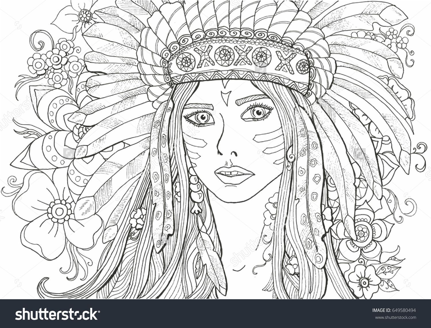 Coloring Pages For Indian Adults