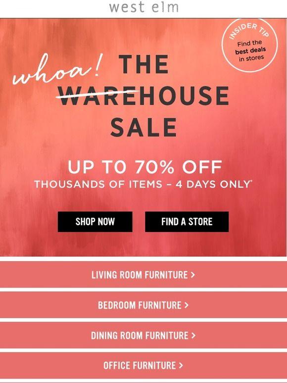 West Elm West Elm Warehouse Sales Sale