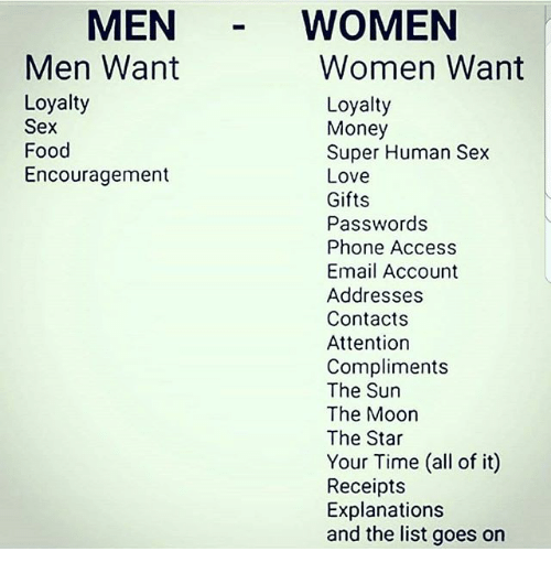 What guys want sex