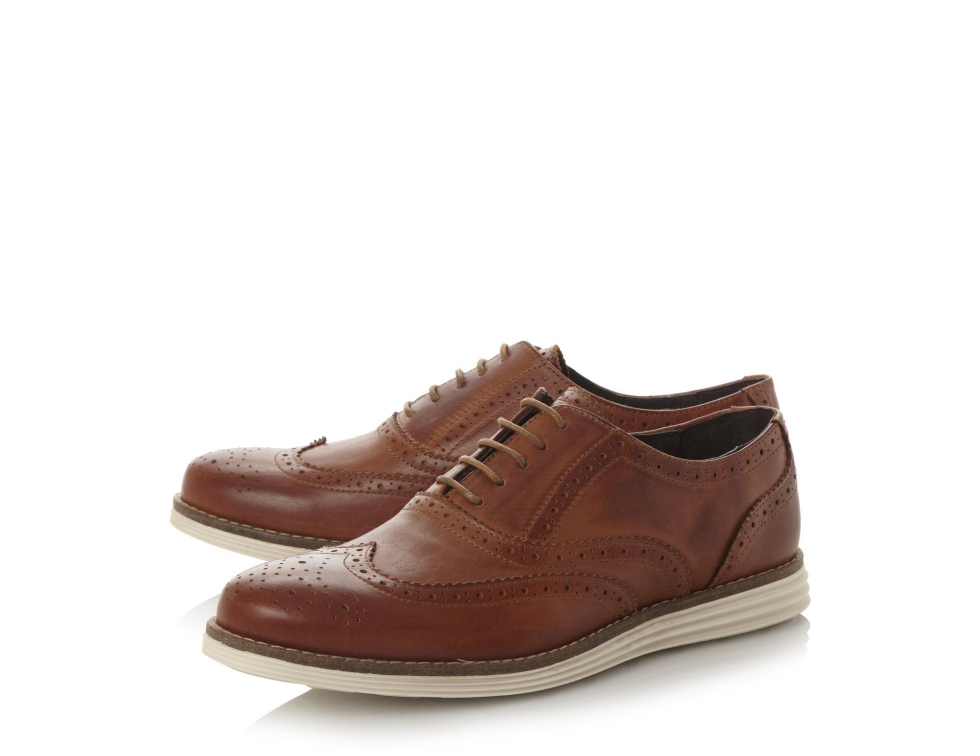 Leather brogues, Dress shoes men