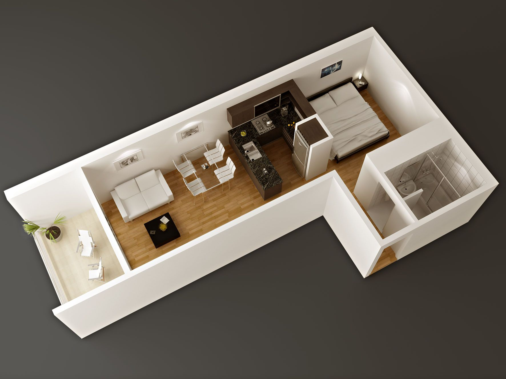 Dise o para espacios reducidos hogar en 2019 casas for Diseno de interiores minimalista espacios pequenos