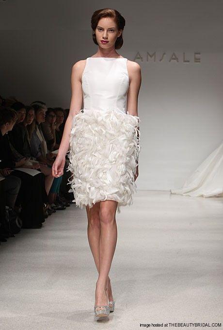 Amsale Short Wedding Dress Fall 2012 Style: Nola | I Do ...