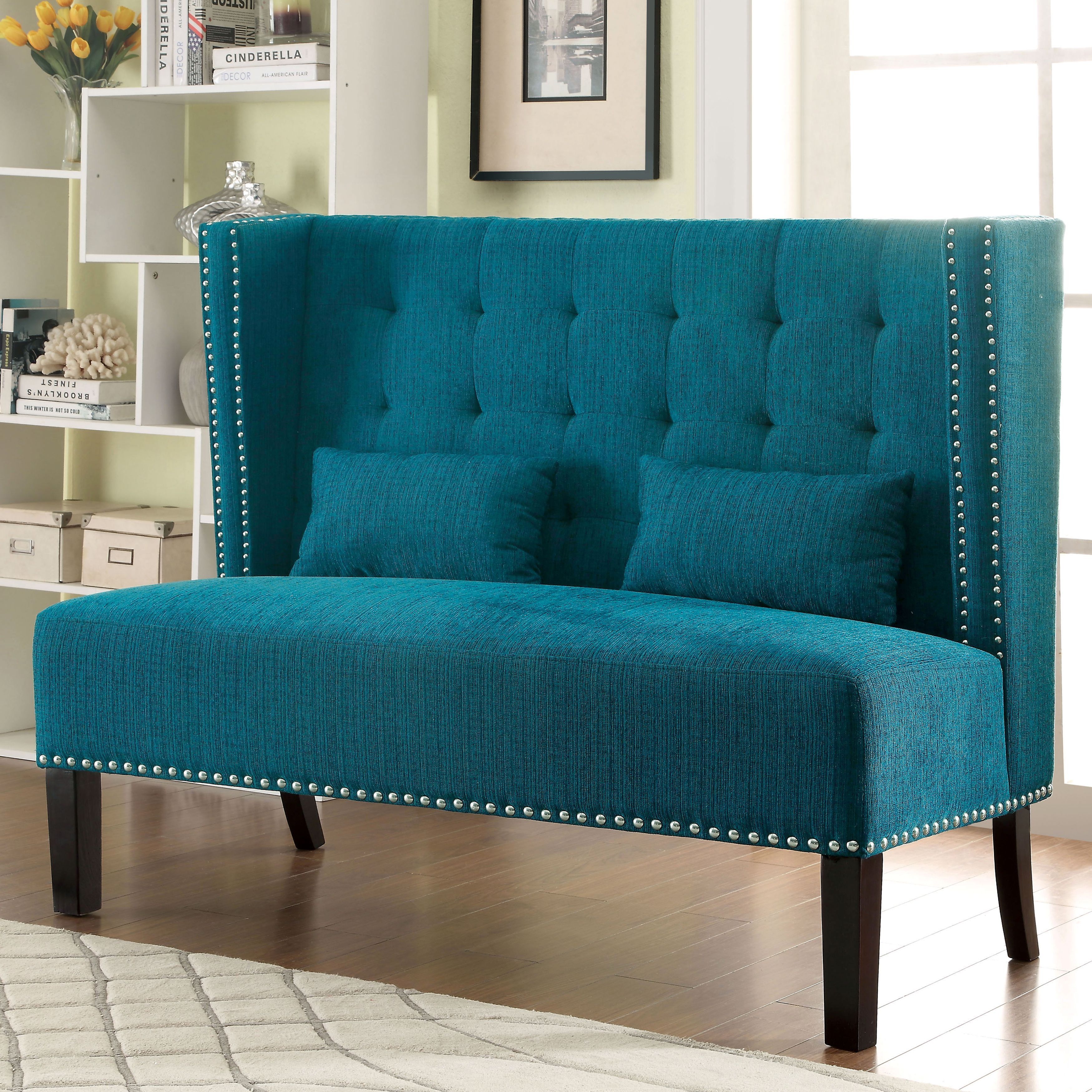 Gorgeously Glam, This Romantic Wingback Loveseat Features Button Tufting To  Accentuate The Smooth Fabric While