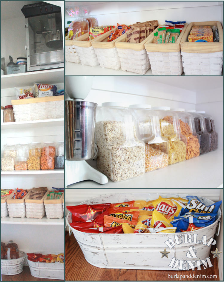 Great ideas on pantry organization