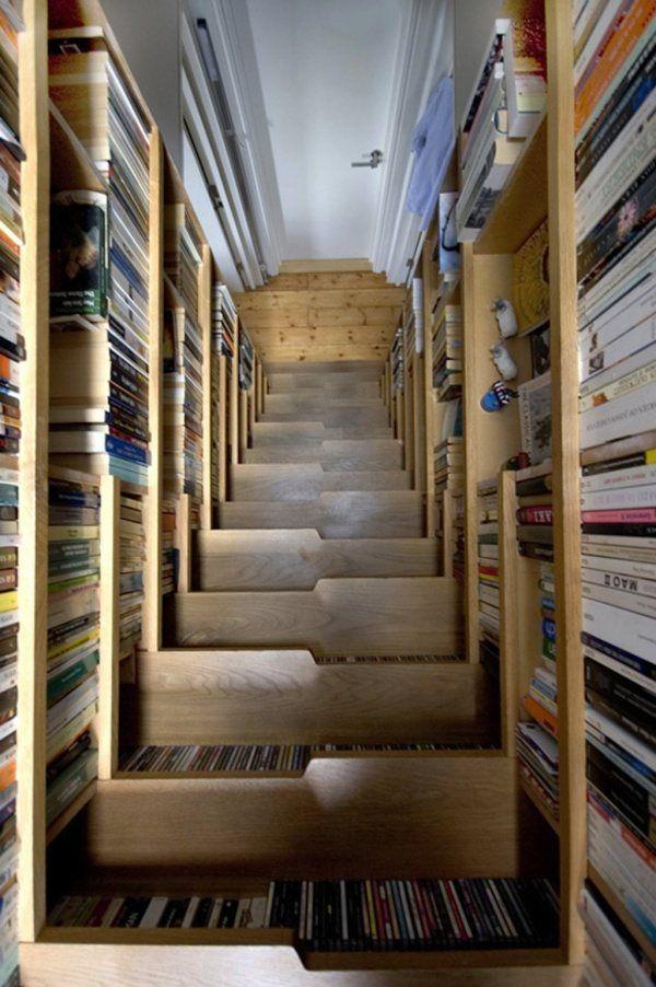 Treppe als Bibliothek 1 | Baumhaus | Pinterest | Bibliothek ...