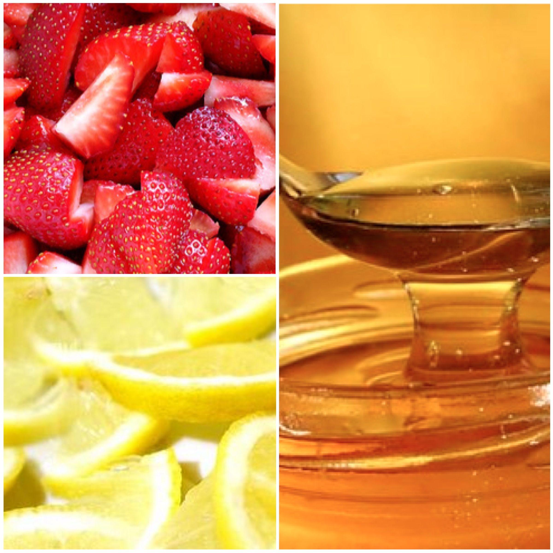 Strawberry, honey and lemon face mask (amazing for acne