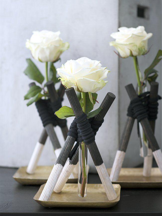 rosenvasen deluxe blumen deko pinterest tischdeko. Black Bedroom Furniture Sets. Home Design Ideas