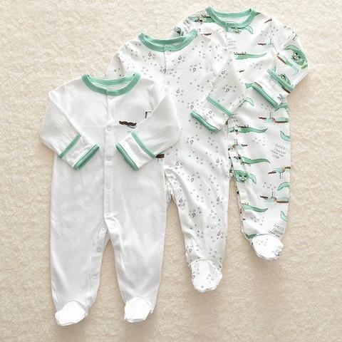 57ed5ffc3503 2018 Baby Romper Set 3pcs Newborn Clothes 3M-12M Infant Clothing ...