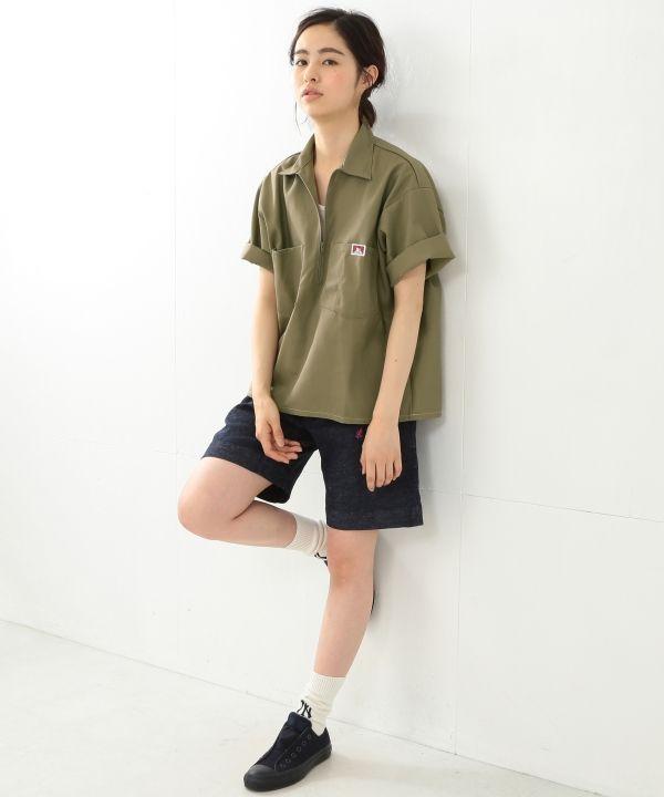 ワークシャツの代表ブランド、BEN DAVISのハーフジップシャツ