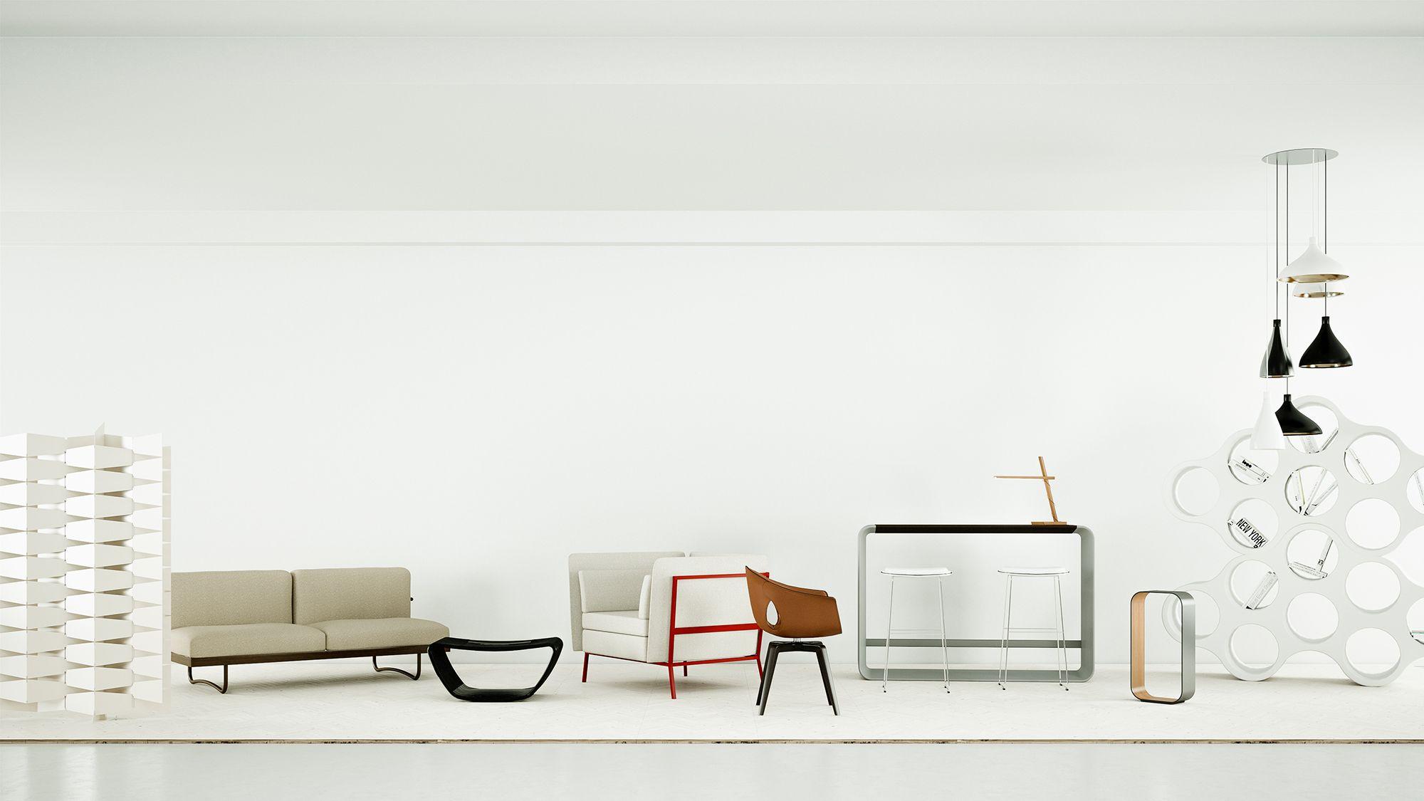 Mix of Haworth furniture/3D Rendering/pixel-viz.com   3D Renderings ...