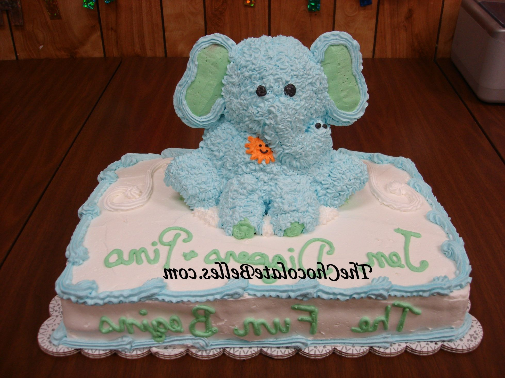 Baby Elephant Baby Shower Cake Girl Baby Shower Cake Decoration