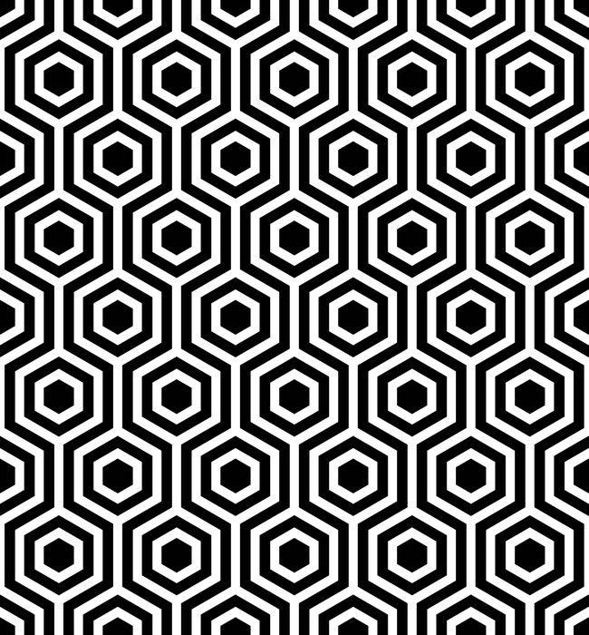 Papier Peint à Motifs Modèle Sans Couture De Vecteur Texture élégante Moderne Motif Géométrique Monochrome La Calandre Avec Des Carreaux Hexagonaux