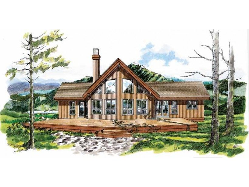 A Frame Style 2 Story 3 Bedrooms(s) House Plan With 1659 Total