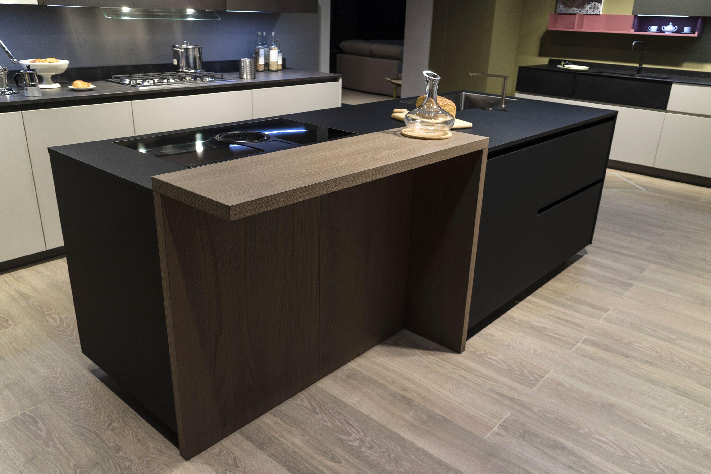 Piastrelle Cucina Nere.Cucina Design Moderno Arredamento Isola Italiana