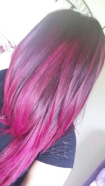 Magenta hair - pink/purple ombre hair - brown to pink ombre hair