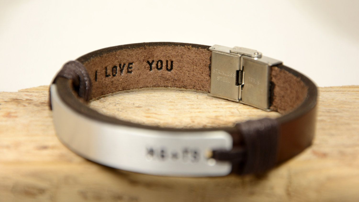Personalized Leather Bracelet  Custom Leather Cuff  Children/'s Names Cuff  Anniversary Gifts  Valentines Day Gift  Gifts for Her