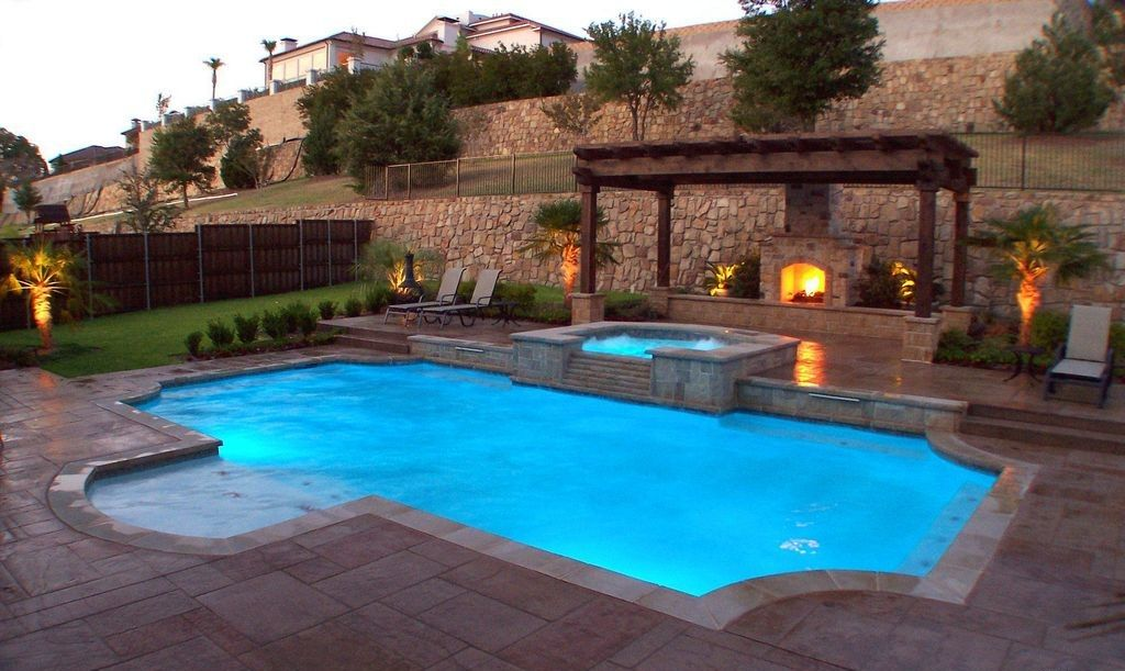 25 Awesome Roman Pool Design Ideas With Grecian Style Backyard Pool Landscaping Inground Pool Landscaping Pool Builders