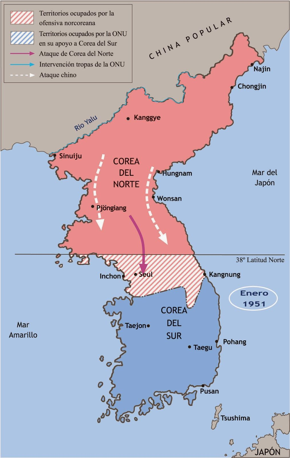 Guerra De Corea Mapa.Pin En Le Pouvoir
