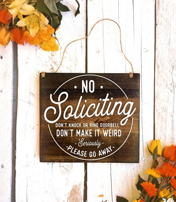 No Soliciting Sign, No Soliciting Door Sign, Do Not Disturb Sign, No Solicitation Sign, No Soliciting, No Strangers Sign, Do Not Disturb
