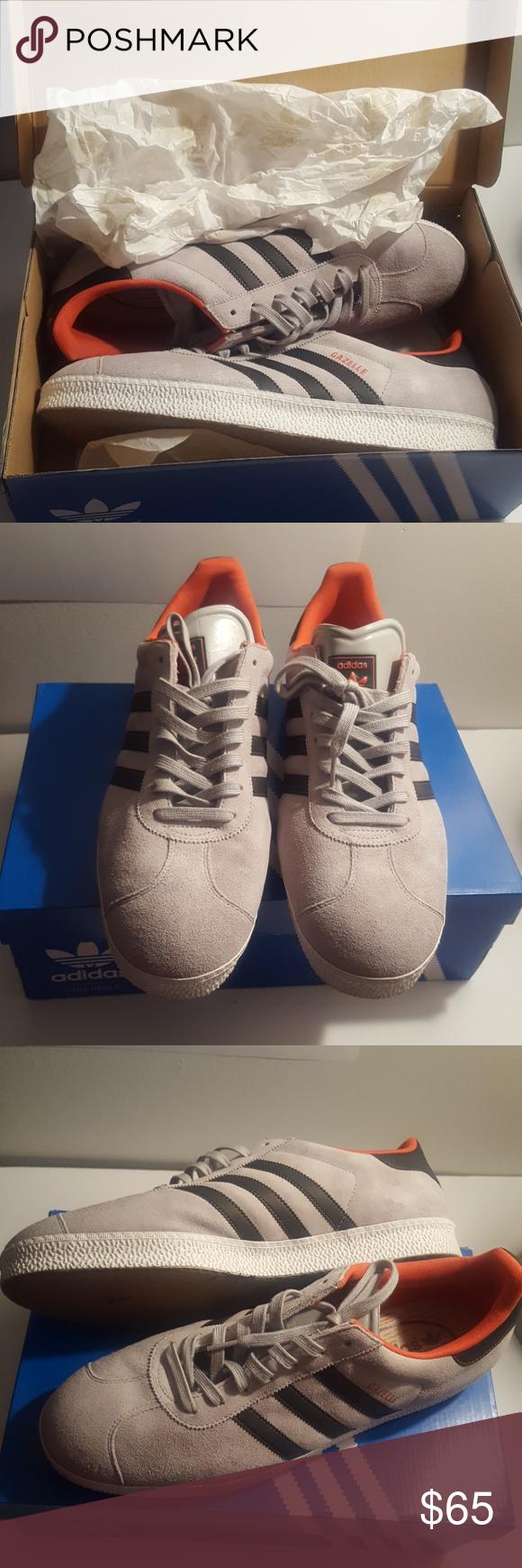 Orange sneakers, Adidas gazelle mens