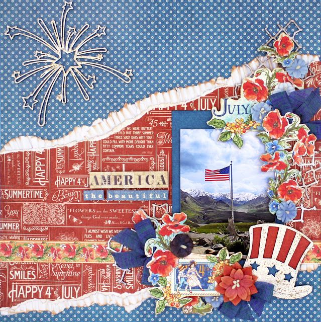 Scrap, Travel, and Bark!  Layout created with Children's Hour and Time to…