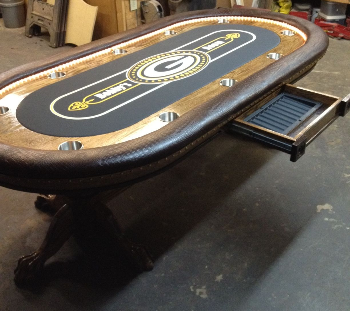 Custom Poker Tables | Custom Felt, Chip Drawer Custom Poker Table