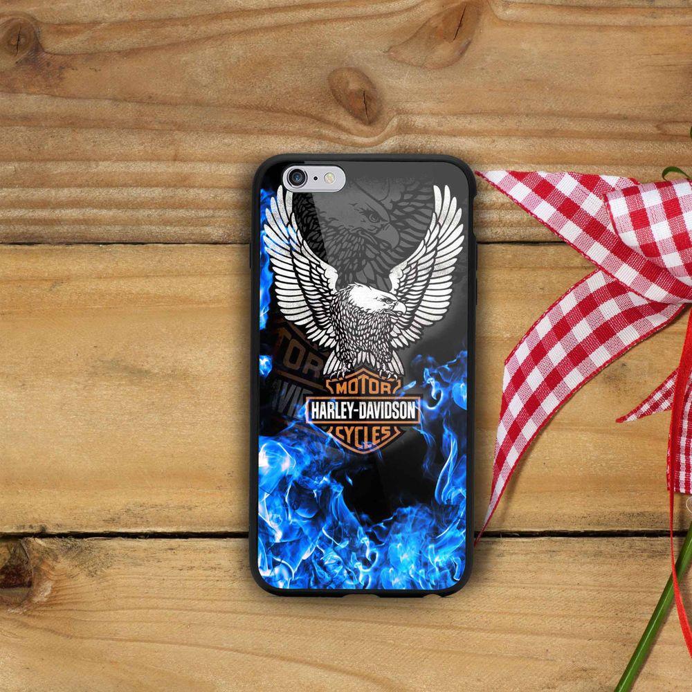 Eagle blue fire harley davidson logo for iphone case 7 7