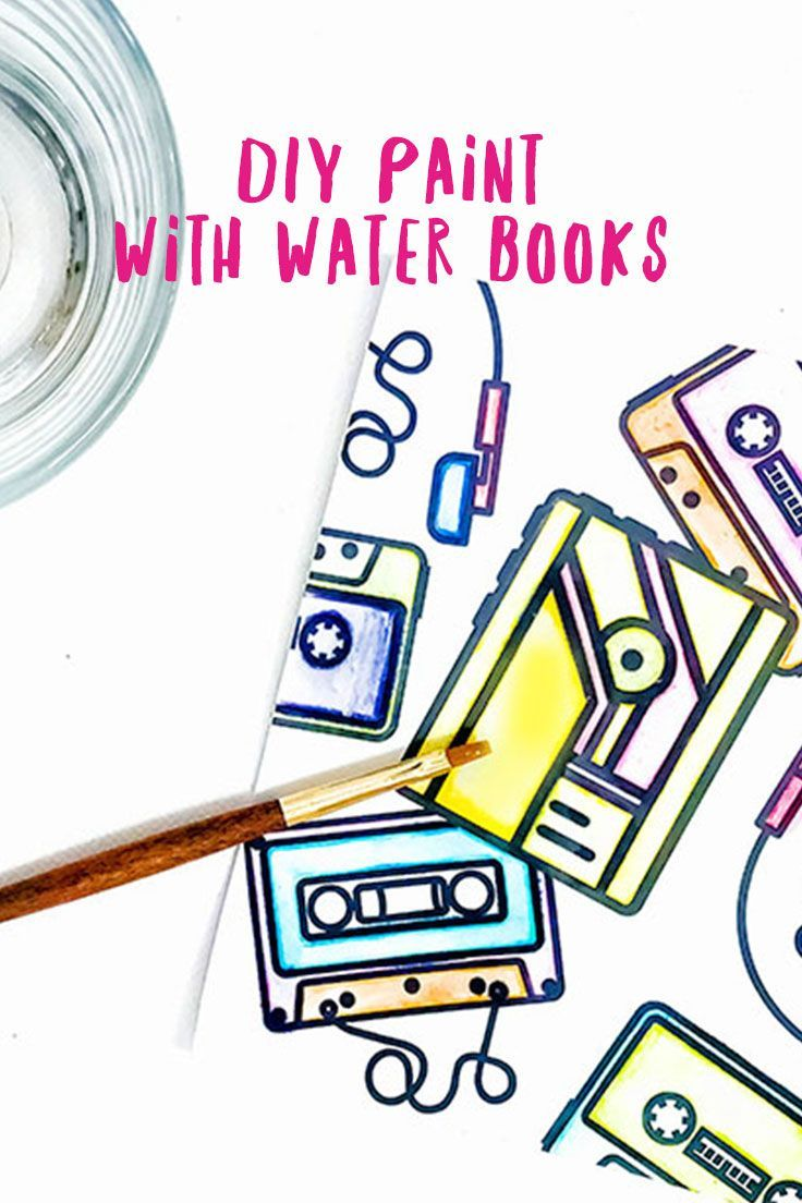 Freebie: A DIY Paint with Water Coloring Book | 80 s, Water and ...