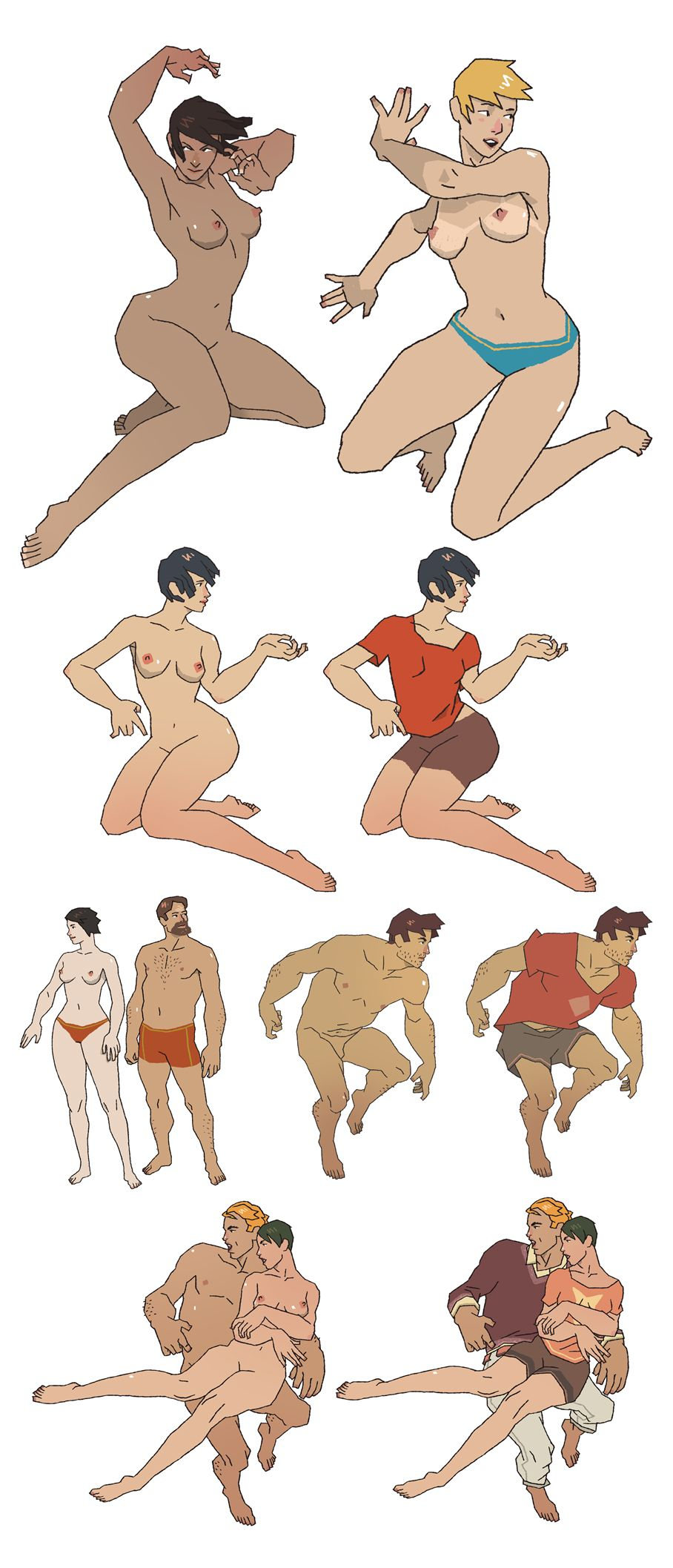 toppless season! by ~honkfu on deviantART || CHARACTER DESIGN REFERENCES | Find more at https://www.facebook.com/CharacterDesignReferences if you're looking for: #line #art #character #design #model #sheet #illustration #expressions #best #concept #animation #drawing #archive #library #reference #anatomy #traditional #draw #development #artist #pose #settei #gestures #how #to #tutorial #conceptart #modelsheet #cartoon #couples @Character Design References